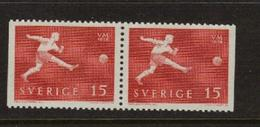 SOCCER FOOTBALL WORLD CHAMPIONSHIP - MUNDIAL 1958 - SWEDEN SCHWEDEN SUEDE MI 438 Dl\Dr MNH - Fußball-Weltmeisterschaft