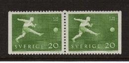 SOCCER FOOTBALL WORLD CHAMPIONSHIP - MUNDIAL 1958 - SWEDEN SCHWEDEN SUEDE MI 439 Dl\Dr MNH - Fußball-Weltmeisterschaft