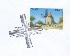 Moulin Daudet Fontvieille Windmühle Flügel - France