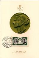 Monaco 1956 Mariage Princier - Grand Bristol 19,2 X 13 Cm - Cartas