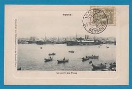 Grece Greece Le Port Du Pirée Cachet Beyrouth 1913 Timbre Syrien Conseil Gal Des Pelerinages Av De Breteuil Paris - Griekenland