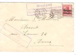 SJ106/ TP Oc 3 S/L.c.méc.BXL 1915 Censure Ctr + Verzögert ...v.Anvers - WW I