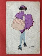 1922 - Illustrateur MAURICE PEPIN - ELEGANTE DAME MET HOEDENDOOS - BOITE AUX CHAPEAUX - MODE - Pepin