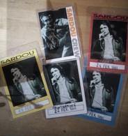 Lot D'anciens Laisser Passer De Concert De Michel Sardou - Tickets - Vouchers