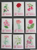 MONACO - 1995 - YT Partie De 2014 à 2025 ** - FLEURS - Unused Stamps