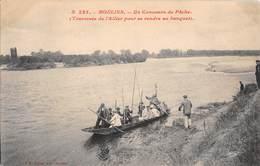 03 - CPA  MOULINS Un Concours De Pêche  RARE - Moulins