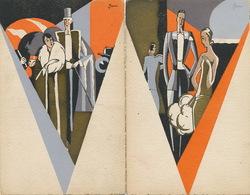 Art Deco 2 Superbes Cartes Pochoir Signées Jam ?  Triangle - Illustrateurs & Photographes