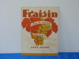 """Publicité  Cartonnée """"FRAISIN"""" Jus De Raisin Naturel à Morges (Suisse). - Plaques En Carton"""