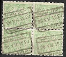 8Bv-805: Bl.v4 N° TR110: BRUGGE(C) Nr1 28 VII 1920 BRUGES (C) N°1 - 1915-1921
