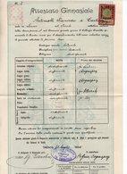 Trento - Attestato Ginnasiale Rilasciato Nel 1904 Con Marca Da Bollo Da 30 Heller - (FDC14926) - Diplomi E Pagelle