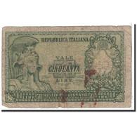 Billet, Italie, 50 Lire, 1951, 1951-12-31, KM:91a, B - 50 Lire