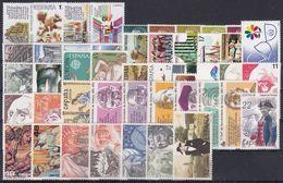 ESPAÑA 1986 Nº2825/2873 AÑO NUEVO COMPLETO,47 SELLOS,1 HB,4 CARNETS - España