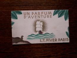 L16/65 Mini Calendrier Publicitaire. 1937 / 1938; Un Parfum D'aventure L.T.Piver. Paris - Petit Format : 1921-40