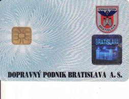Slovakia - Slovaquie, Transport Chip Card Bratislava,  Gebraucht-oblitérée - Engine