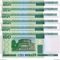 BELARUS 100 PУБЛЁЎ (RUBLES) 2000 (2011) P-26b NEUF 6 PCS [BY126b] - Belarus