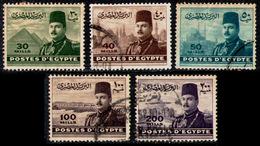 EGYPT 1947/48 - Set Used - Egypt