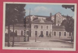 07 - ANNONAY----La Gare---cpsm Pf Colorisée - Annonay