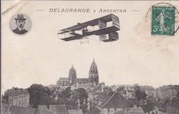 """61 L'Aviateur """"DELAGRANGE à ARGENTAN"""" Orne * Avion AVIATION - Flieger"""