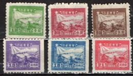 CINA ORIENTALE - 1949 - TRENO E POSTALE DELL'AMINISTRAZIONE COMUNISTA DI SHANTUNG -SCRITTA 1949.2.7 - NUOVI SENZA GOMMA - Western-China 1949-50