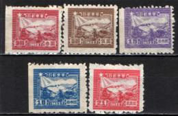 CINA ORIENTALE - 1949 - TRENO E POSTALE DELL'AMINISTRAZIONE COMUNISTA DI SHANTUNG -SCRITTA 1949.2.7 - NUOVI SENZA GOMMA - Cina Orientale 1949-50