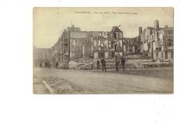 Cpa - 55 -  Saint Mihiel - Place Des Halles - Rue Notre-Dame - 1920 - Animation Ruines échafaudage - M. Delaty - Saint Mihiel