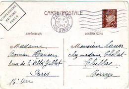 E35. CARTE POSTALE TYPE PÉTAIN 0F80. ISSY LES MOULINEAUX - TARN COMPLÉMENT TAXE PERÇUE - 1942 - Cartoline Postali E Su Commissione Privata TSC (ante 1995)