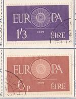IRLANDA 1960 Europa 2 Valori. - Usati