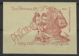 Pyramid Sphynx EGYPT / HUNGARY 1919 Stamp Philatelic Store Advertising Stamp / Cinderella Label Vignette - MH - Monuments