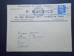 Marcophilie  Cachet Lettre Obliteration - Timbre N°717 Seul Sur Lettre - 1946 (2311) - Postmark Collection (Covers)