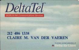 United States, Delta Ait Lines Transport Magnetic Card, DeltaTel - Moteurs