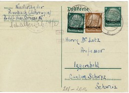 ROMBAS ROMBACH 1941 *** ENTIER POSTAL Avec Censure Linéaire Oberkommando Wehrmacht + 2 Cachets De Censeurs - Alsace-Lorraine