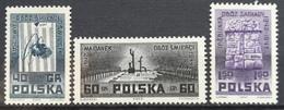 1962 POLAND MNH International Resistance Movement Month In Memoriam Of Victims Of Auschwitz,Majdanek And Treblinka - 1944-.... Republic