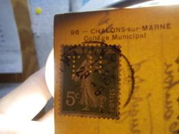 Marcophilie  Cachet Lettre Obliteration - Timbre Perforé TH  - Thomson Houston (2313) - Marcophilie (Lettres)