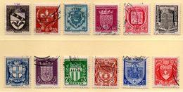 France 1941. Série Armoiries De Villes ( I ). N° 526/37 Oblitérés. - France