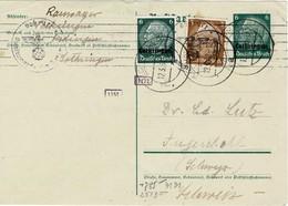 KEDANGE KEDINGEN 1941 *** ENTIER POSTAL Avec Censure Linéaire Oberkommando Wehrmacht + 2 Cachets De Censeurs - Alsace-Lorraine