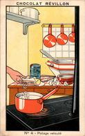 III) Image Chocolat Révillon Recettes Simples Et Précieuses Collection De 12 Sujets Potage Velouté N°4 En B.Etat - Otros