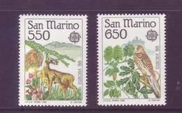 San Marino 1986 - Europa Unita, Protezione Natura E Ambiente - 2v MNH** - Nuovi
