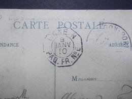 Marcophilie  Cachet Lettre Obliteration - Maritime : LIGNE N PAQ.FR.N° 6 - 1910 (2315) - Cartas