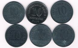 10  PFENNIG  6X LOT 1916-1922 DUITSLAND /3079/ - Deutschland