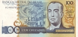 BRAZIL 100 CRUZADOS ND (1987) P-211b UNC  [BR833b] - Brazil