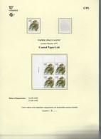 PO835** Gomme Blanche CPL Numéro De Planche 1 - 2  Coin Daté 1ère Date 24.IX.92 + 6 Timbres + Lettre - 1985-.. Birds (Buzin)