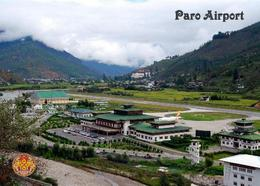 Bhutan Paro International Airport Overview New Postcard Flughafen AK - Bhutan