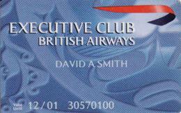 United Kingdom, British Airways, Transport Magnetic Card, Executive Club - Moteurs