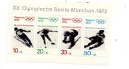 Olympische Spiele Munchen 1972- Feuillet-voir état - Allemagne
