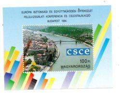 Magyar - CSCE -Budapest 1994- Feuillet-voir état - Blocs-feuillets