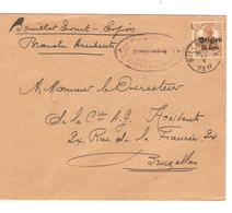 SJ110/ TP Oc 15 S/L. C.Silenrieux 1917 Censure Charleroi V.BXL - WW I