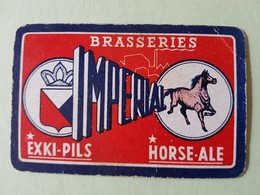 Brasserie Impériale Horse-ale  Une Carte à Jouer Jeu Cartes - Otros