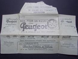 Marcophilie  Cachet Lettre Obliteration - Telegramme + Publicité PEUGEOT - 1925 (2320) - Marcophilie (Lettres)