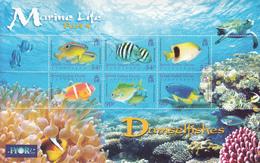 2008 British Indian Ocean Territory  Fish Poisson Turtles Souvenir Sheet MNH - Territorio Britannico Dell'Oceano Indiano