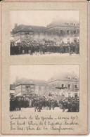 LA GUERCHE DE BRETAGNE Cavalcade (10  5  1903) Chard De L Industrie Et Char De La Bienfaisance 2 Photo Collées - La Guerche-de-Bretagne